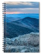 Sunset View Over Blue Ridge Mountains Spiral Notebook