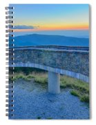 Top Of Mount Mitchell Before Sunset Spiral Notebook