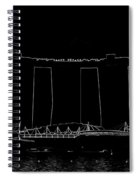 View Of The Towers Of The Marina Bay Sands In Singapore Spiral Notebook