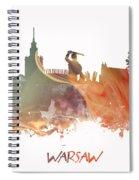 Warsaw City Skyline Spiral Notebook