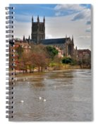 Worcester Cathedral And Swans Spiral Notebook