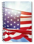 American Flag 55 Spiral Notebook