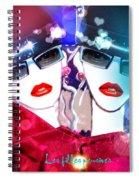 Fille Pensives Spiral Notebook