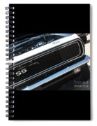 67 Black Camaro Ss Grill-8039-2 Spiral Notebook