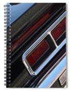 67 Black Camaro Ss Tail Light-8020 Spiral Notebook