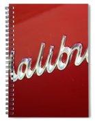 67 Malibu Chevelle Logo -0058 Spiral Notebook