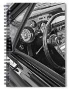 67 Mustang Interior Spiral Notebook