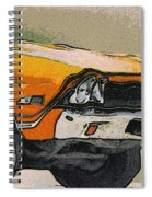 68 Chevelle Abstract Spiral Notebook