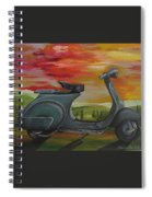 '68 Vespa Piaggio In Its Natural Environment Spiral Notebook