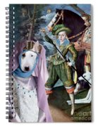 Bull Terrier Art Canvas Print Spiral Notebook