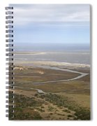 Aerial Near Jekyll Island Spiral Notebook