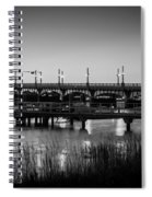 Bridge Of Lions St Augustine Florida Painted Bw Spiral Notebook