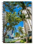 Downtown Miami Brickell Fisheye Spiral Notebook
