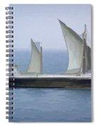 Fishing Vessel In The Arabian Sea Spiral Notebook