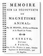 Franz Mesmer (1734-1815) Spiral Notebook