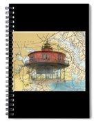 7 Ft Knoll Lighthouse Md Nautical Chart Map Art Cathy Peek Spiral Notebook