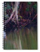 Great White Heron At Waters Edge Spiral Notebook