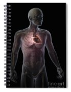 Heart Within The Chest Spiral Notebook