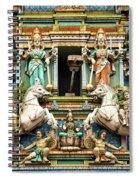 Hindu Temple With Indian Gods Kuala Lumpur Malaysia Spiral Notebook