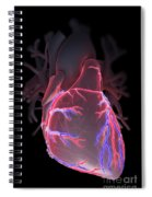Human Heart Spiral Notebook