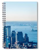 New York City Manhattan Midtown Aerial Panorama View With Skyscr Spiral Notebook