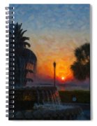 Pineapple Fountain At Dawn Spiral Notebook