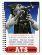 Poster Women Workers Spiral Notebook
