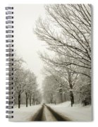 Snow Covered Road And Trees After Winter Storm Spiral Notebook