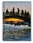 Sunset In Lefkada Town Spiral Notebook