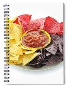 Tortilla Chips And Salsa Spiral Notebook
