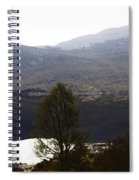 Trees On The Shore Of A Loch And Hills In The Scottish Highlands Spiral Notebook