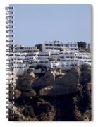 Views From Santorini Greece Spiral Notebook