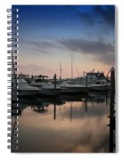 Yachts At Sunset Spiral Notebook