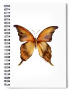 7 Yellow Gorgon Butterfly Spiral Notebook