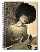 70s Chic Sepia Spiral Notebook