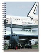747 Transporting Discovery Space Shuttle Spiral Notebook