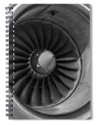 757 Engine Black And White Spiral Notebook