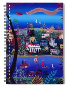 75th Anniversary Of Palm Beach, Florida Oil On Canvas Spiral Notebook