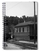 760 Passing The Yard House Bw Spiral Notebook