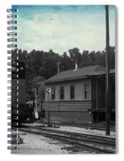 760 Train Engine Passing The Station Sc Textured Spiral Notebook