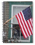 #762 D68 American Flag Winter Spiral Notebook