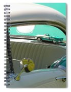 #766 D86 Mini Holiday Oldsmobile Antique Cars  Spiral Notebook
