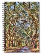 Plantation Allee Of Oaks Spiral Notebook