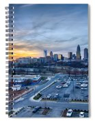 Charlotte Downtown At Night Spiral Notebook