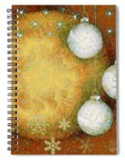 Christmas Background Spiral Notebook