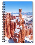 Eroded Rocks In A Canyon, Bryce Canyon Spiral Notebook
