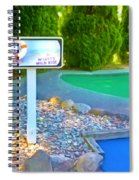 8 Hole Sign On  Golf Course Spiral Notebook