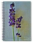Lavender On Linen Spiral Notebook
