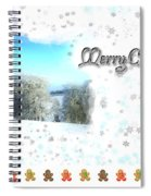 Christmas Card 24 Spiral Notebook