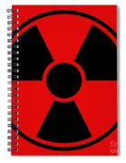 Radiation Warning Sign Spiral Notebook